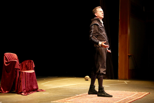 "Students Inspired by One-Man Show, ""Breakneck Hamlet"""
