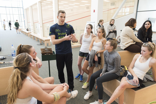 Squash Champion Nick Matthew Visits Berkshire