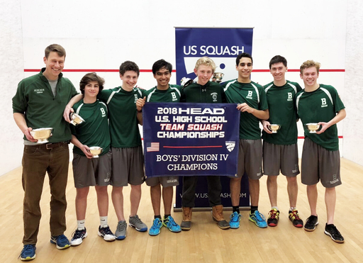Boys Varsity Squash Team Captures National Championship