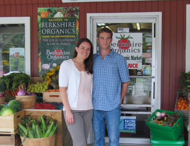 Aleisha and her husband, Brian, are co-owners of Berkshire Organics.