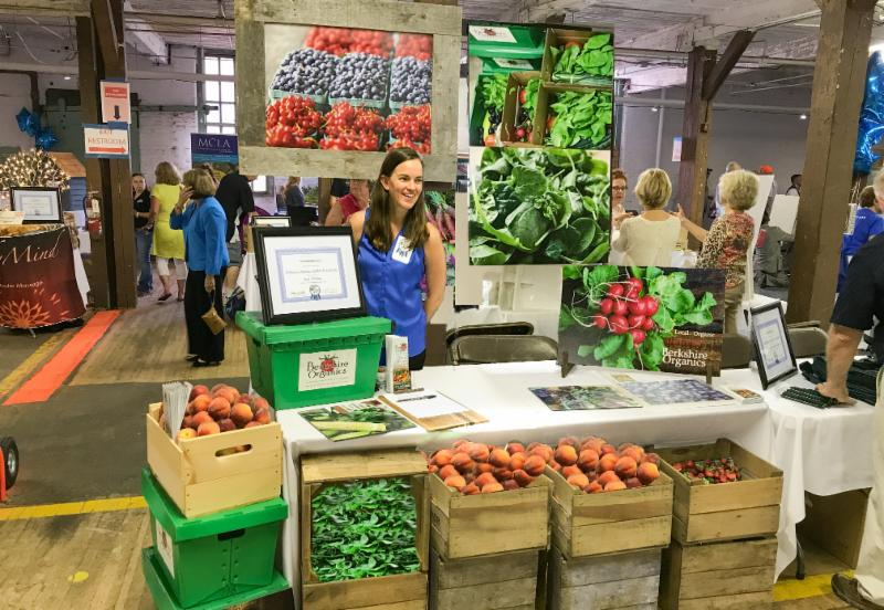Aleisha at the Best of the Berkshires event in 2017. They won the Best Produce category.
