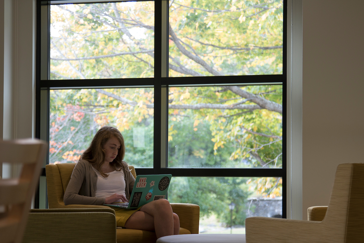 berkshire school geier library girl studying