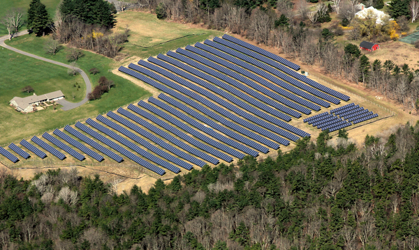 Aerial View of the Solar Field